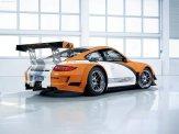 2011 Orange Porsche 911 GT3 R Hybrid Wallpaper Side rear angle view