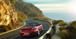 2011 Red Porsche 911 Turbo Cabriolet Wallpaper Rear angle view