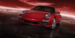 2011 Red Porsche 911 carrera 4S Wallpaper Front view