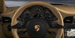 2011 Red Porsche 911 carrera 4S Wallpaper Interior Steering wheel