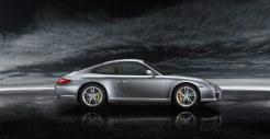 2011 Silver Porsche 911 Carrera Wallpaper Side view