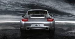 2011 Silver Porsche 911 Carrera Wallpaper Rear view