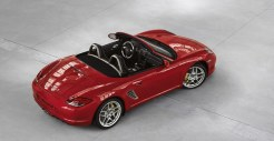 2011 Guards Red Porsche Boxster S wallpaper Side angle Top view