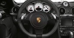 2011 Guards Red Porsche Boxster S wallpaper Interior Steering wheel