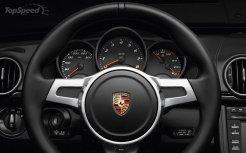 2011 Porsche Boxster S Black Edition Interior Steering wheel
