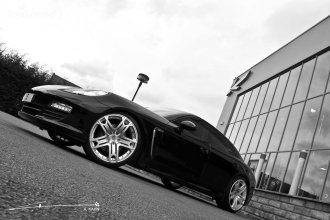 2011 Black Porsche Panamera RS600 Project Kahn Side angle view