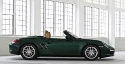 2011 Porsche Racing Green Metallic Boxster Side view