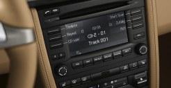 2011 Porsche Racing Green Metallic Boxster Interior LCD screen