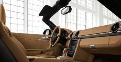 2011 Porsche Racing Green Metallic Boxster Interior
