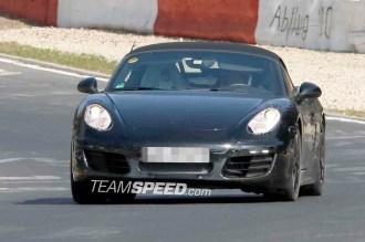 2012 Porsche 981 Boxster Spy shots Front view