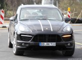 2012 Porsche Cayenne Turbo S Spy shots at Nurburgring circuit Front view