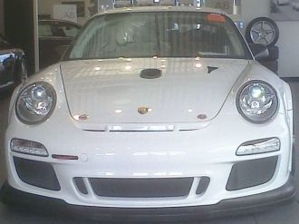 Bellet Racing 2011 white Porsche 911 GT3 Cup Car Front view