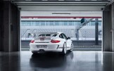 Limited White 2011 Porsche 911 GT3 RS 4.0 wallpaper Rear angle view