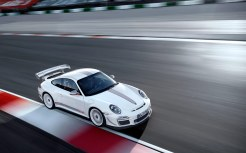 Limited White 2011 Porsche 911 GT3 RS 4.0 wallpaper Front angle top view