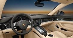 Topaz brown Metallic 2011 Porsche Panamera Turbo S wallpaper Interior