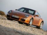 2007 Gold Porsche 911 Targa 4S Wallpaper Front angle side view
