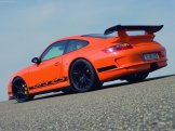 2007 Orange Porsche 911 GT3 RS Wallpaper Rear angle side view
