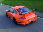 2007 Orange Porsche 911 GT3 RS Wallpaper Rear angle top view