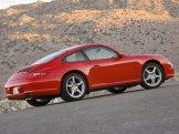 2007 Red Porsche 911 Carrera 4 Wallpaper Side view
