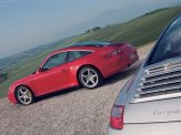 2007 Red Porsche 911 Targa 4 Wallpaper Side angle view