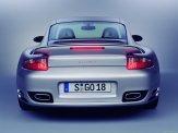 2007 Silver Porsche 911 Turbo Wallpaper Rear view
