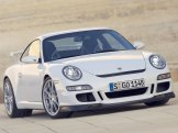 2007 White Porsche 911 GT3 Wallpaper Front angle view
