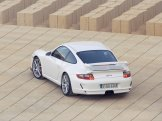 2007 White Porsche 911 GT3 Wallpaper Rear angle top view