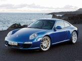 2009 Blue Porsche 911 Carrera Wallpaper Front angle side view