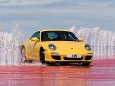 2009 Yellow Porsche 911 Carrera Wallpaper Front angle view