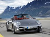 2010 Grey Porsche 911 Turbo Cabriolet Wallpaper Front angle view