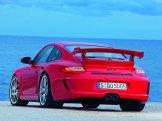 2010 Red Porsche 911 GT3 Wallpaper Rear angle view