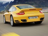 2010 Yellow Porsche 911 Turbo Wallpaper Rear angle view