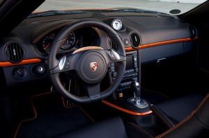Electric Porsche Boxster E First drive Interior