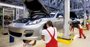 Porsche plant in Leipzig