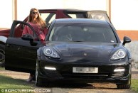 Katie Price and black Porsche Panamera