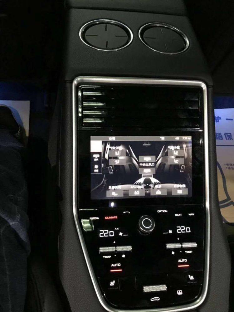 Porsche rear air conditioning