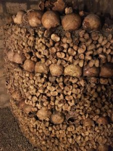 The Catacombs in Paris. Just a small fraction of the bones.