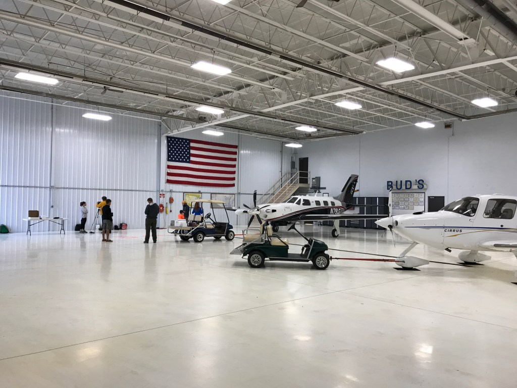 Neil Armstrong Airport hanger