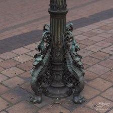 An old lamp base