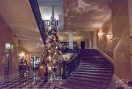 Stairs in Claridge's, London 12/28/2015
