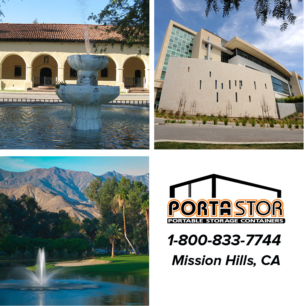 Rent portable storage containers in Mission Hills, CA