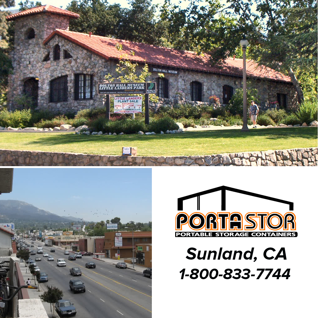 Rent portable storage containers in Sunland, CA