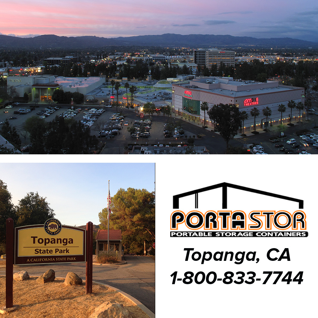 Rent portable storage containers in Topanga, CA