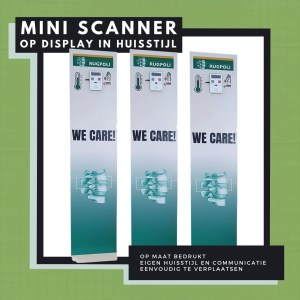 Display with mini fever scanner