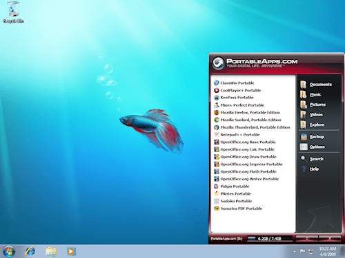 Portable Apps running in Windows 7