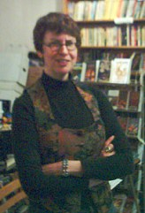 Delia looking puzzled. [grainy digital photos from Dave's Christmas Pocket DVII]