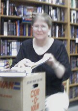 Lois McMaster Bujold, signing her backlist