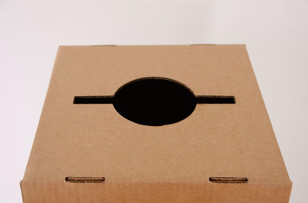 Papeleras de cartón con ruedas