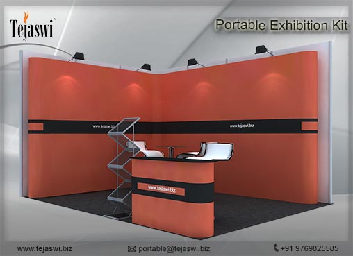 4 meter x 3 meter Portable Exhibition stall 2 side open_432S-7