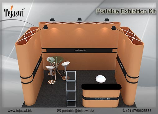 4 meter x 3 meter Portable exhibition kit 1 side Open